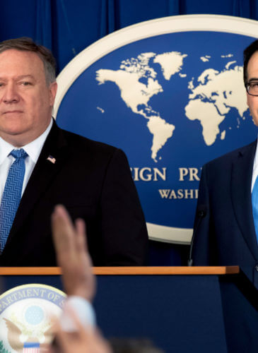 Mike Pompeo, Steven Mnuchin Iran Sanctions